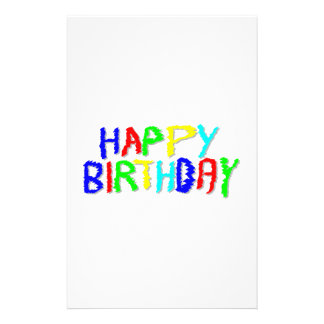 """Bright and Colorful. Happy Birthday. 5.5"""" X 8.5"""" Flyer"""