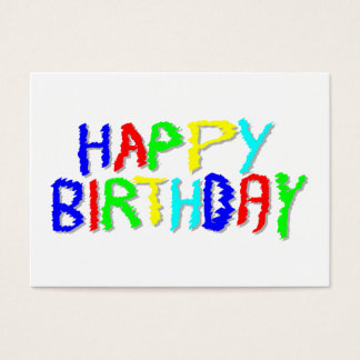 Bright and Colorful. Happy Birthday. Business Card