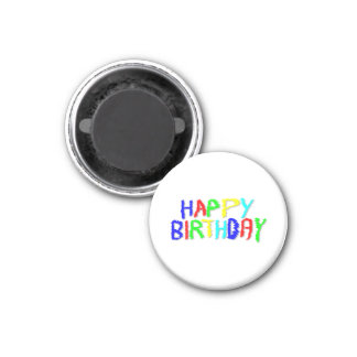 Bright and Colorful. Happy Birthday. Fridge Magnet