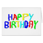 Bright and Colorful. Happy Birthday. Greeting Card