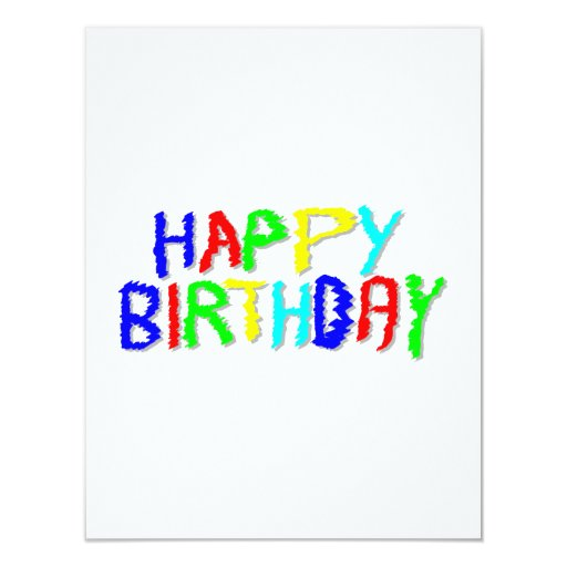 Bright and Colorful. Happy Birthday. Custom Announcements