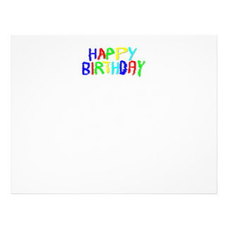 Bright and Colorful. Happy Birthday. Customized Letterhead