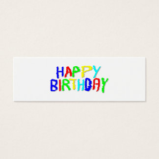 Bright and Colorful. Happy Birthday. Mini Business Card
