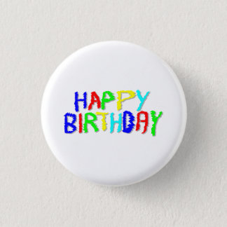 Bright and Colorful. Happy Birthday. Pinback Button