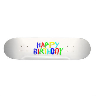 Bright and Colorful. Happy Birthday. Skateboard
