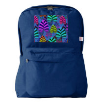 Bright and Colorful Leaf Pattern 767 American Apparel™ Backpack