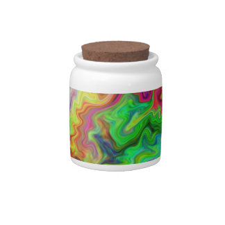 Bright and Colorful Multi Pattern Candy Dish