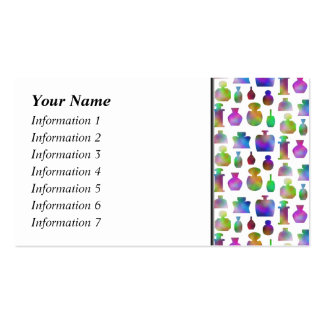 Bright and Colorful Perfume Bottles Pattern. Business Card