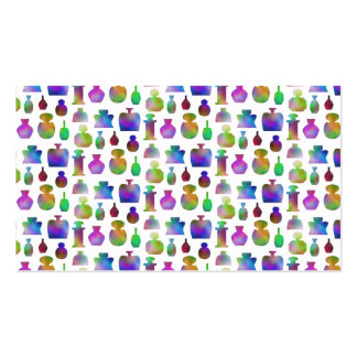 Bright and Colorful Perfume Bottles Pattern. Business Cards