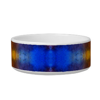 Bright and Colorful. Red, Blue and Yellow Pattern. Bowl