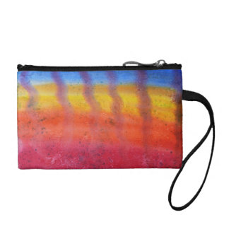 Bright and Colorful. Red, Blue and Yellow Pattern. Coin Wallet
