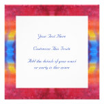 Bright and Colorful. Red, Blue and Yellow Pattern. Announcement