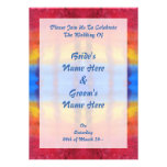 Bright and Colorful. Red, Blue and Yellow Pattern. Custom Invites