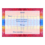 Bright and Colorful. Red, Blue and Yellow Pattern. Personalized Invite