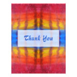 Bright and Colorful. Red, Blue and Yellow Pattern. Custom Announcement