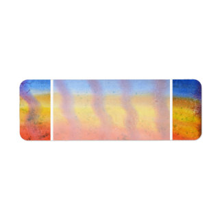Bright and Colorful. Red, Blue and Yellow Pattern. Label