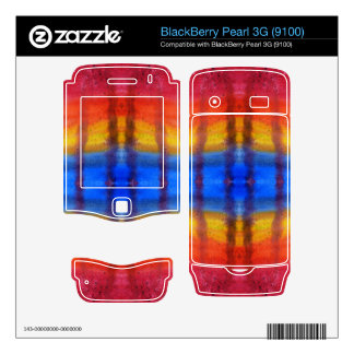 Bright and Colorful Red Blue and Yellow Pattern BlackBerry Decals