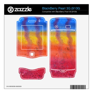 Bright and Colorful Red Blue and Yellow Pattern Skin For BlackBerry Pearl