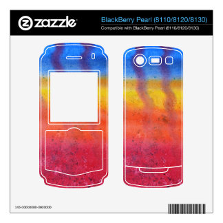 Bright and Colorful Red Blue and Yellow Pattern Skins For BlackBerry