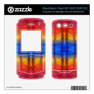 Bright and Colorful Red Blue and Yellow Pattern BlackBerry Pearl Decals