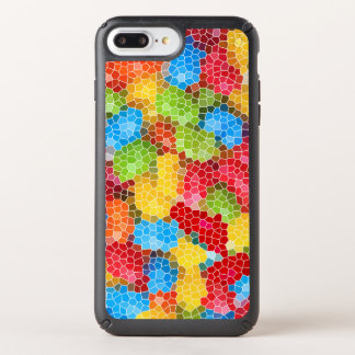 Bright and Colorful Stained Glass Pattern Speck iPhone Case