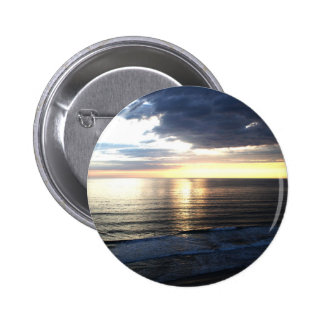 Bright and Colorful Sunset Pinback Button