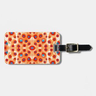 bright and colouful lack of words bag tag