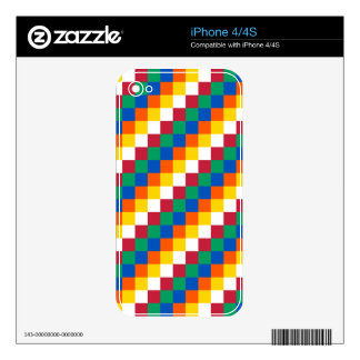 Bright and Distinctive Squares Pattern iPhone 4 Skins