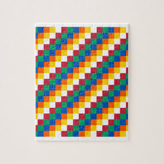 Bright and Distinctive Squares Pattern Jigsaw Puzzle