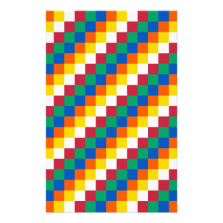 Bright and Distinctive Squares Pattern Stationery