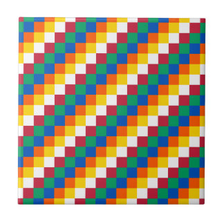 Bright and Distinctive Squares Pattern Tile