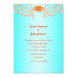 1 000 Orange And Turquoise Invitations Orange And