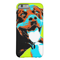 Bright and Fun Rottweiler Portrait Barely There iPhone 6 Case