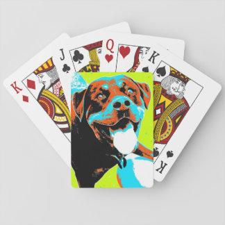 Bright and Fun Rottweiler Portrait Card Decks