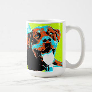 Bright and Fun Rottweiler Portrait Coffee Mug