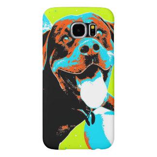 Bright and Fun Rottweiler Portrait Samsung Galaxy S6 Case