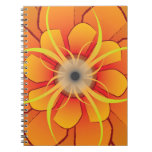 Bright and Funky Abstract Flower Note Books