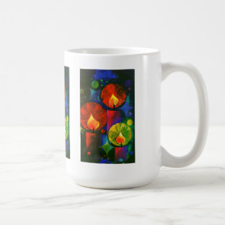 Bright and Glowing Christmas Candles Classic White Coffee Mug