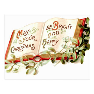 Bright and Happy Christmas Postcard