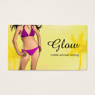 Bright and Modern Tanning Salon Business Card