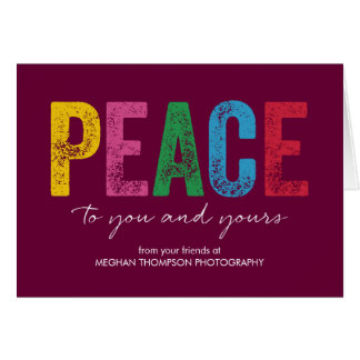 Bright and Peaceful Business Holiday Greeting Card