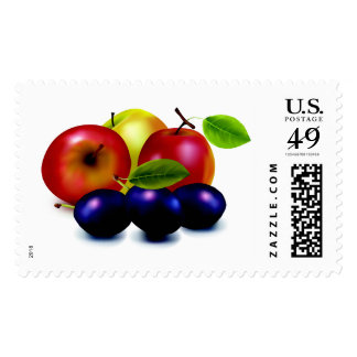 Bright and Ripe Fruits Stamp