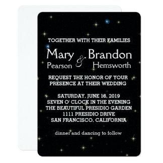 Bright and Starry Universe Nebula Wedding Card
