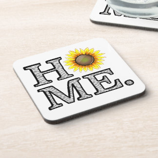 Bright and Sunny Home Sunflower Housewarmer Beverage Coaster