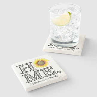 Bright and Sunny Home Sunflower Housewarmer Stone Coaster