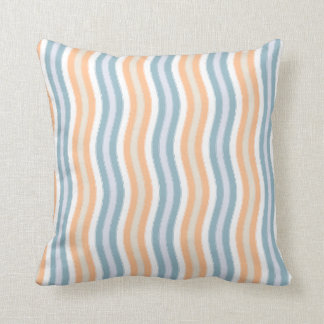 Bright and Sunny Wavy Stripes. Throw Pillow