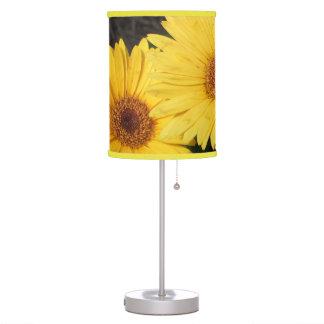 Bright and Sunny Yellow Gerbera Daisies Table Lamp