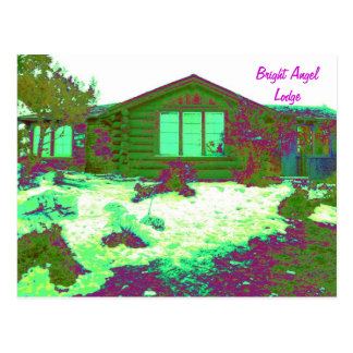 Bright Angel Lodge Posterized Postcard