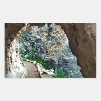 Bright Angel Trail Grand Canyon National Park Rectangular Sticker