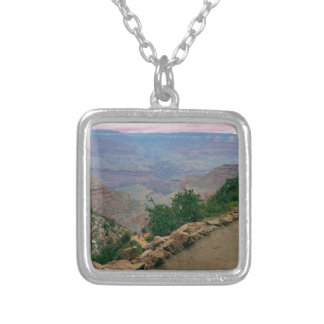 Bright Angel Trail Grand Canyon National Park Silver Plated Necklace